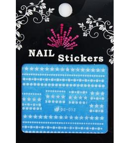 Nail Sticker fosforescent, DG-012, art. nr.: 76727