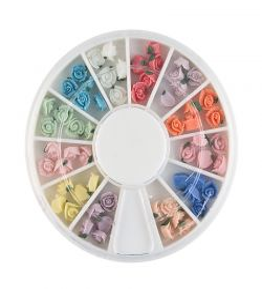 Carusel cu floricele 3D, ceramice, diverse culori, art. nr.: 761505