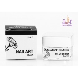 Nailart color gel, Black, 5 ml, art. nr.: 20067.5