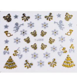 Gold/Silver Nail Sticker 3D Craciun YJ056