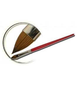 Pensula maner lemn, vopsit rosu, limba de pisica, marimea 4, art. nr.: 40007