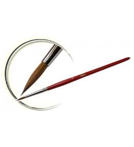 Pensula maner lemn, vopsit rosu, rotunda, marimea 4, art. nr.: 40018