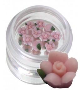 Flori roz din material ceramic pentru NailArt – 5 mm 07