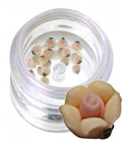 Flori crem din material ceramic pentru NailArt – 3 mm-11