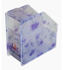 Dispenser pentru rola de forme, violet cu modele florale, , art. nr.: 300099
