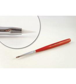 Pensula nail art, plata, varf ascutit 5mm, par artificial, art. nr.: 40024