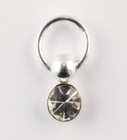 Nail Piercing rotund cu cristal, art. nr.: 76828