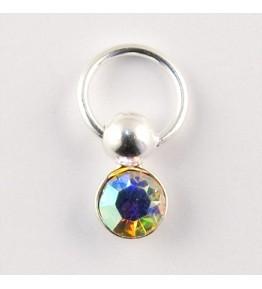 Nail Piercing, rotund cu cristal AB, art. nr.: 76833