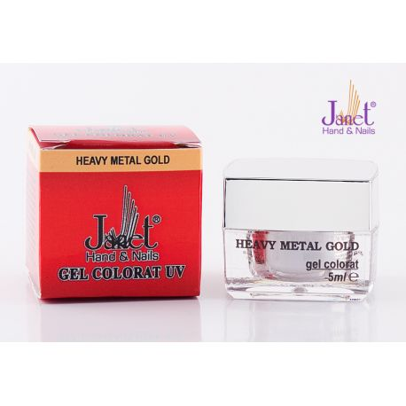 Gel colorat Metalic - Heavy Metal Gold, 5 ml, art. nr.: 20003.50