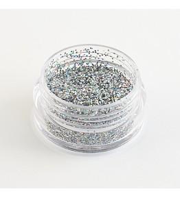 Glitter, cutiuta 3 gr., Holo Silver, art. nr.: 76216.45