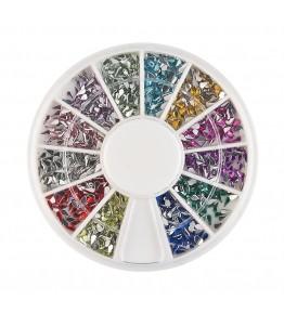 Carusel cu pietricele lacrima, acrilice, 1.5 mm, diverse culori, art. nr.: 761564