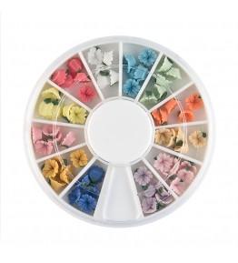 Carusel cu floricele 3D, ceramica, diverse culori, art. nr.: 761520