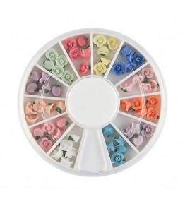 Carusel cu floricele 3D, ceramice, diverse culori, art. nr.: 761522