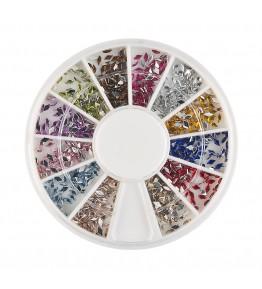 Carusel cu pietricele romb, acrilice, 1.5 mm, diverse culori, art. nr.: 761572