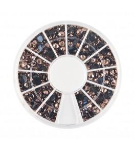 Carusel cu pietricele rotunde aramii, acrilice, diverse marimi, art. nr.: 761570