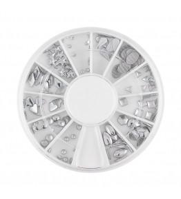 Carusel cu tinte metalice, diverse forme, argintii, art. nr.: 761601