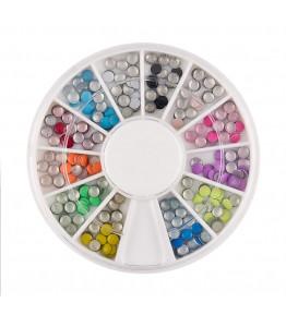 Carusel cu tinte rotunde metalice, mix diverse culori, art. nr.: 761600
