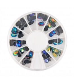 Carusel cu pietricele ovale, diverse culori, cca. 60 buc, art. nr.: 761603