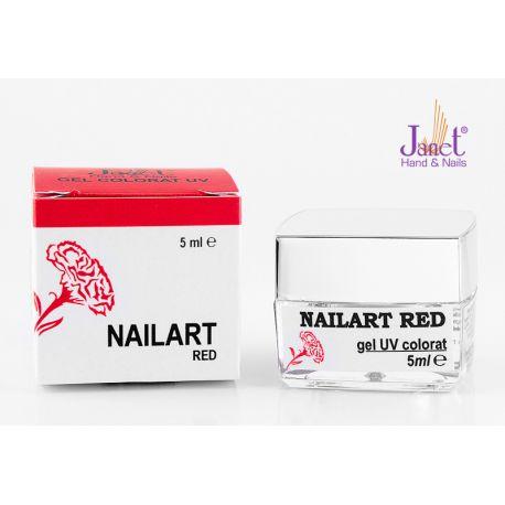 Nailart color gel, Red, 5 ml, art. nr.: 20067.4
