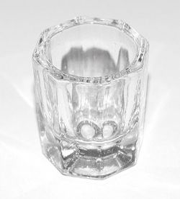 Pahar din sticla, mic, pentru lichid acrylic, art. nr.: 20277