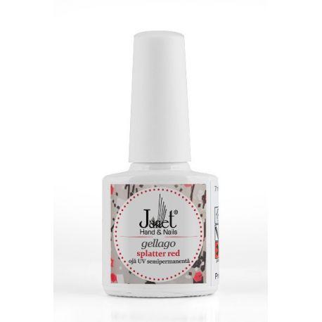 Gellago - Splatter Red, 7 ml, Oja UV Semipermanenta, art. nr.: 20304