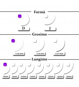 Extensii gene, forma D, 0.05mm x 8mm
