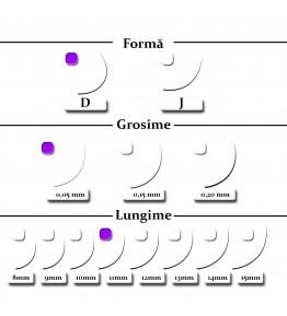 Extensii gene, forma D, 0.05mm x 11mm