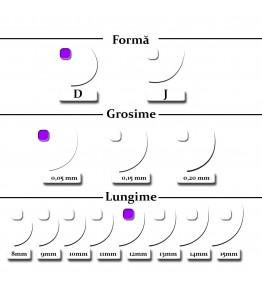 Extensii gene, forma D, 0.05mm x 12mm