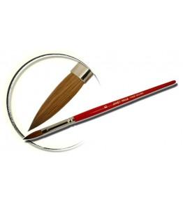 Pensula maner lemn, vopsit rosu, ovala, marimea 6, art. nr.:  40009