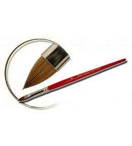 Pensula maner lemn, vopsit rosu, limba de pisica, marimea 6, art. nr.: 40008