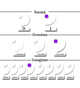 Extensii gene, forma J, 0.20mm x 11mm