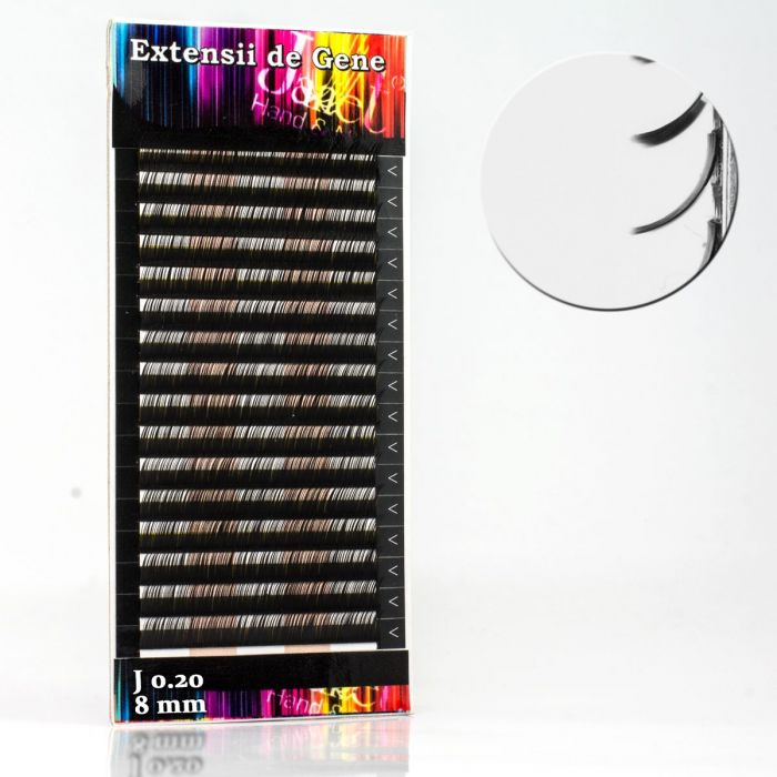 Extensii gene, forma J, 0.20mm x 8mm