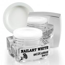 Nailart color gel, White, 5ml
