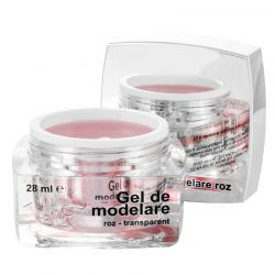 Gel de modelare roz, transparent, 28 ml