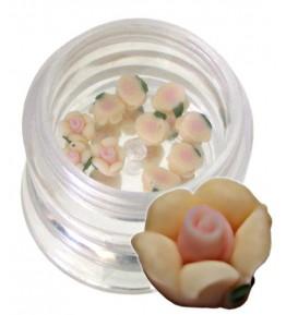 Flori crem din material ceramic pentru NailArt – 5 mm-11