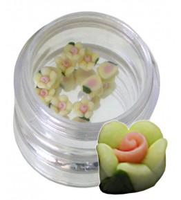 Flori galben-verzui din material ceramic pentru NailArt – 5 mm12
