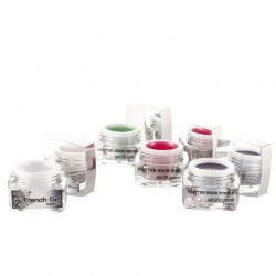 Set 3 Geluri UV Neon Glitter Purple, Pink, Green + 1 gel UV 2french gel Bianco