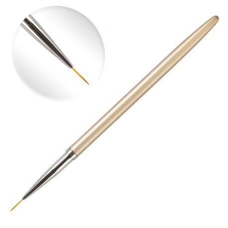 Pensula cu varf subtire de 9mm lungime, par artificial, pentru pictura pe unghii
