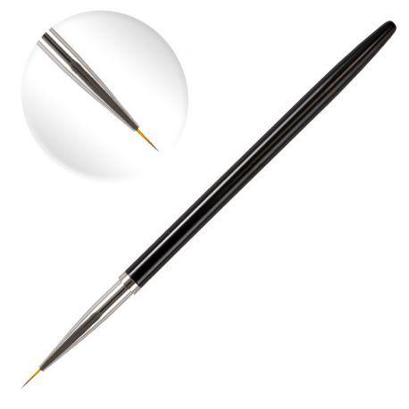 Pensula cu varf subtire de 7mm lungime, par artificial, pentru pictura pe unghii