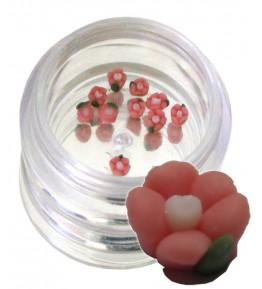 Flori rosii din material ceramic pentru NailArt – 3 mm - 06