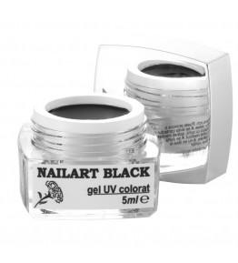 Nailart color gel, Black, 5 ml, art. nr.: 20067.5