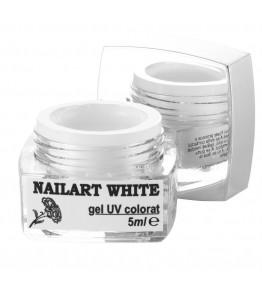 nailart color white