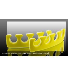 Separatoare pentru degete, set 2 buc  -  culoare GALBEN/ALB, art. nr.: 300135