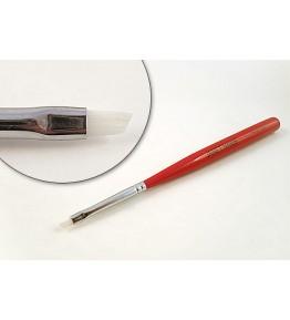 Pensula nail art, plata, varf tesit, par artificial, art. nr.: 40025