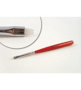Pensula nail art, plata, varf oval, par artificial, art. nr.: 40026