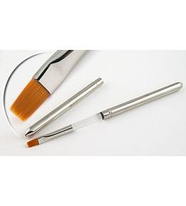 Pensula maner metalic, plata, marimea 6, art. nr.: 40030