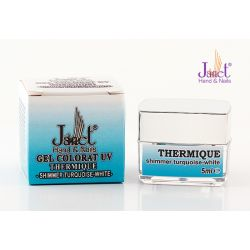 Thermique shimmer turquoise-white, 5ml, art. nr.: 20219